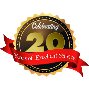 Celebrating 20 Years of Excellence Service